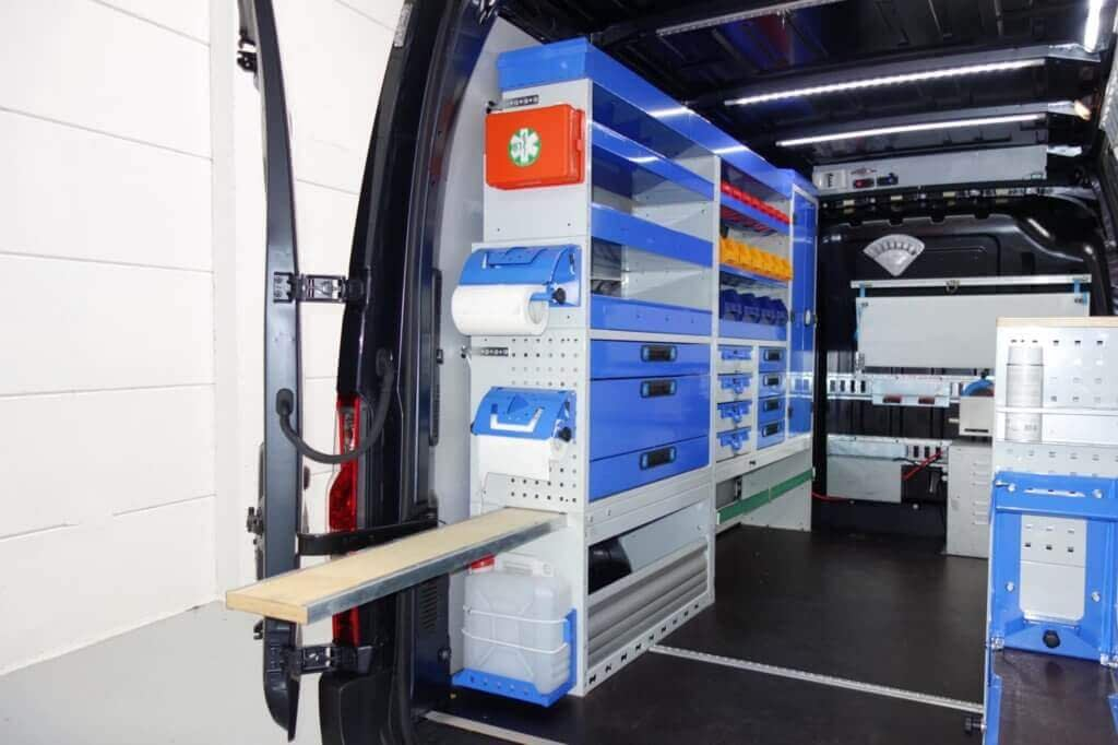 rayonnage pour van