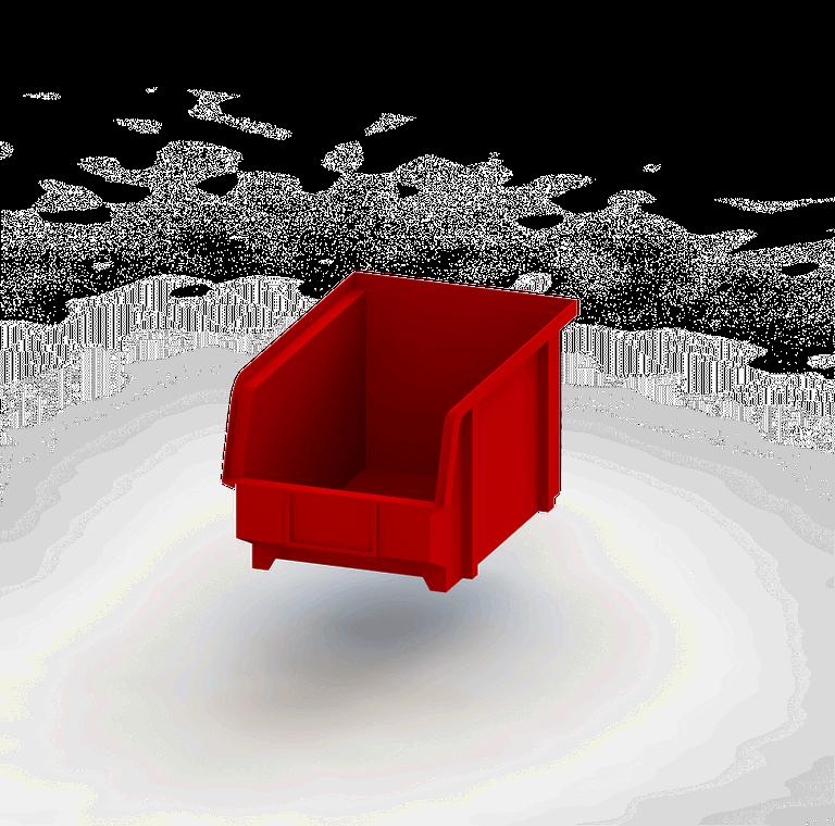 vaschetta rossa estraibile per furgoni
