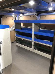 Ford Transit L1H1 Bedrijfswageninrichting Tecnolam binnenkant