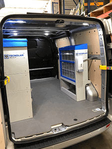 Ford Transit L1H1 Bedrijfswageninrichting Tecnolam achterzijde